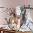Topflappen und Handschuh Blossoms Bunt - Multicolor/Hellblau, ROMANTIK / LANDHAUS, Textil (20/20cm) - Mömax modern living