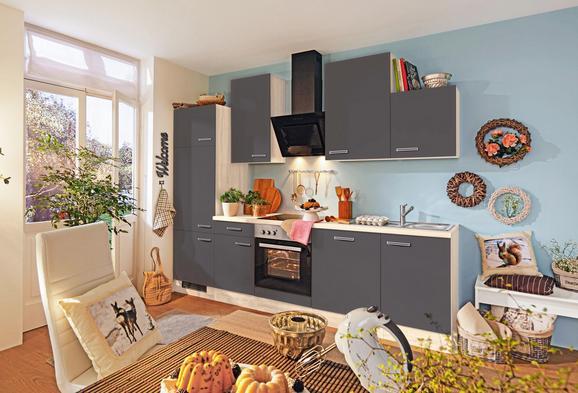 Küchenblock milano anthrazit eiche eichefarben anthrazit modern holzwerkstoff 220cm