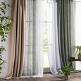 Zavesa Z Zankami Hanna - bela, tekstil (140/245cm) - Based