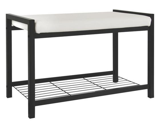 Pad Lucky - Fehér/Fekete, modern, Fém/Textil (68/47,50/35cm)