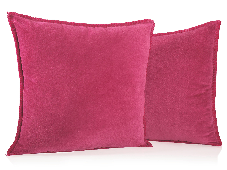 Samt Zierkissen Phil 50x50cm - Rot, KONVENTIONELL, Textil (50/50cm) - premium living