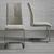 Stuhl Lucie - Sandfarben/Chromfarben, MODERN, Holz/Textil (42,5/98/45cm) - Modern Living