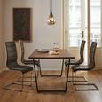 Schwingstuhl in Grau 'Dario' - Chromfarben/Grau, MODERN, Holz/Textil (43/102/57cm) - Bessagi Home