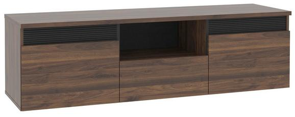 Tv - Elem Fuli - Diófa/Fekete, modern, Faalapú anyag/Műanyag (149,8/44/41,3cm)