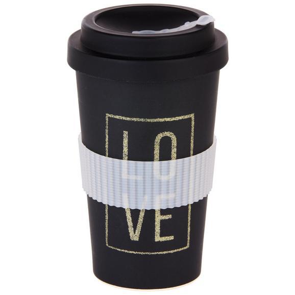 Coffee-to-go-becher Love & Flowers Versch. Motive - Multicolor/Schwarz, MODERN, Holzwerkstoff/Kunststoff (9/16cm) - Mömax modern living
