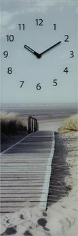 Wanduhr Morning Walk, ca. 20x60x3,5cm - Hellbraun/Hellblau, MODERN, Glas/Metall (20/60/3,5cm) - MÖMAX modern living