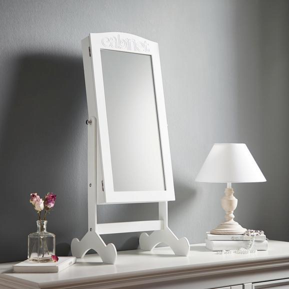 Schmuckspiegelschrank Lina - Weiß, MODERN, Glas/Holz (36/82/29,5cm) - Mömax modern living