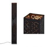 Stehleuchte Elin, max. 40 Watt - Goldfarben/Schwarz, LIFESTYLE, Textil/Metall (15/118cm) - Mömax modern living
