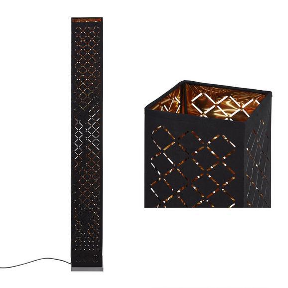 Stoječa Svetilka Elin - črna/zlata, Trendi, kovina/tekstil (15/118cm) - Mömax modern living