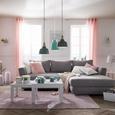 Zavesa Z Obročki Noah - roza, Romantika, tekstil (140/250cm) - Mömax modern living