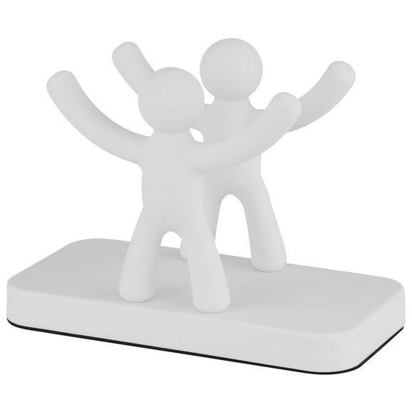 Serviettenhalter Ute aus Kunststoff - Weiß, MODERN, Kunststoff (15,3/7,6/11cm) - Premium Living