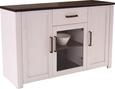 Komoda Provence - bijela/prozirno, ROMANTIK / LANDHAUS, drvni materijal/metal (153,9/82,3/42cm) - James Wood