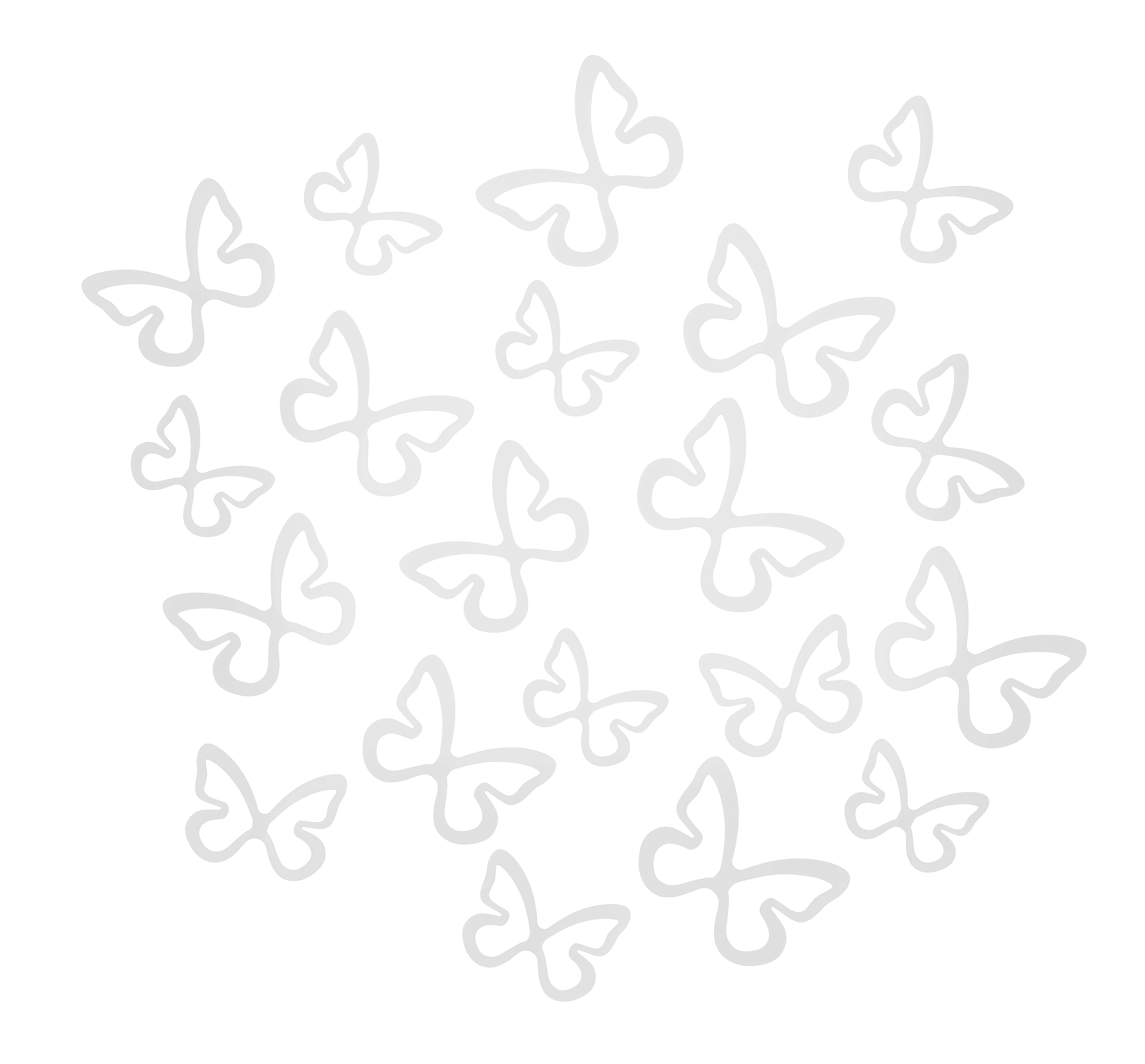 Fali Dekoráció Butterfly - fehér, romantikus/Landhaus, műanyag (39,37/22,86/7,62cm) - MÖMAX modern living