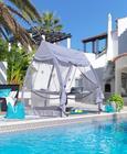 Gugalni Ležalnik Iberia - svetlo siva, kovina/umetna masa (223/208/148cm) - Mömax modern living