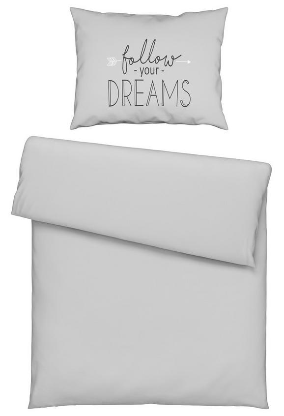 Bettwäsche Follow Dreams 140x200cm - Hellgrau, MODERN, Textil (140/200cm) - Mömax modern living