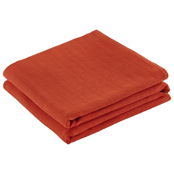 Überwurf Solid One Orange 240x210 cm - Orange, Textil (240/210cm) - Based
