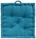 Boxkissen Ninix in Petrol, ca. 40x40cm - Petrol, Textil (40/40/10cm) - Mömax modern living