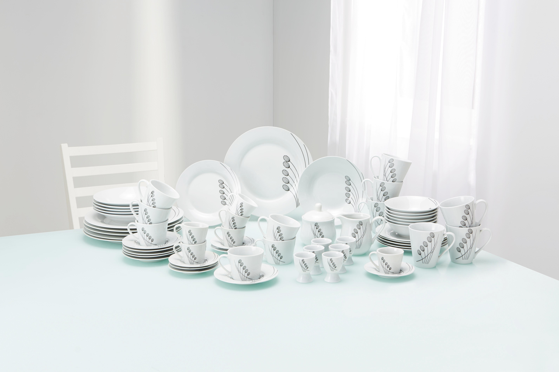 Étkészlet Chloe - fehér/szürke, konvencionális, kerámia - MÖMAX modern living