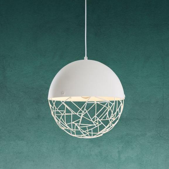 Hängeleuchte Lotta - Weiß, MODERN, Metall (30/120cm) - Modern Living