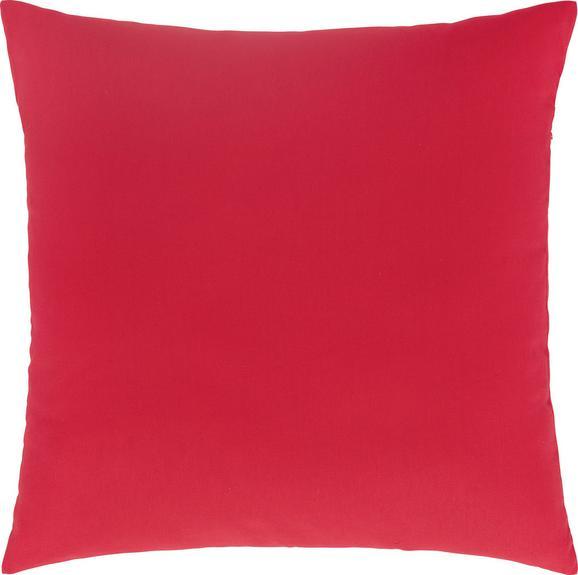 Pernă decorativă Zippmex - Roz închis, Material textil (50/50cm) - BASED