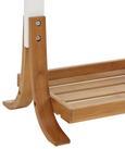 Handtuchhalter Mirella - Buchefarben/Weiß, MODERN, Holz (41/100/28cm) - Modern Living