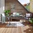 Lounge Garnitúra Jamaika - Szürke/Fekete, Műanyag/Üveg - Modern Living