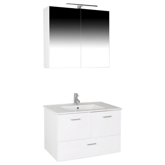 Fürdőszoba Bergamo - Fehér, konvencionális, Faalapú anyag/Kerámia (80/72/46cm)