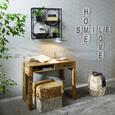 Hocker Naturfarben - Schwarz/Naturfarben, LIFESTYLE, Holz/Holzwerkstoff (35/40/35cm) - Modern Living