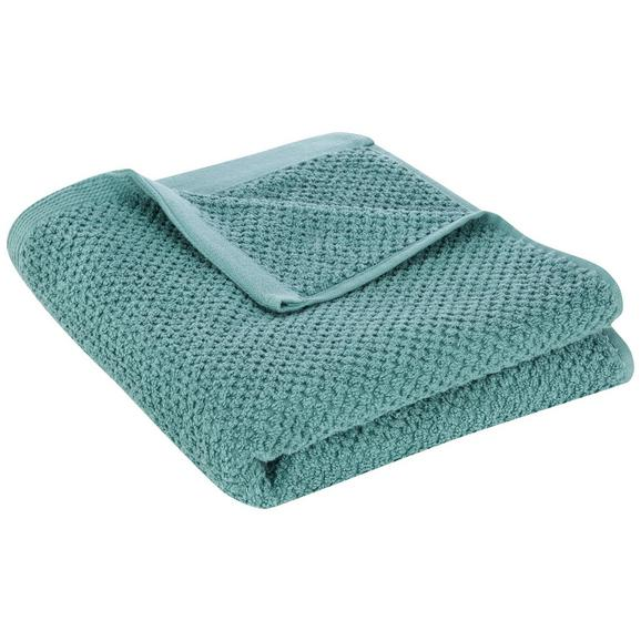 Handtuch Juliane Petrol - Petrol, Textil (50/100cm) - Premium Living