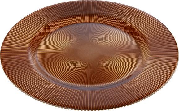 Platzteller Doris - Kupferfarben, Glas (34/1,5cm) - Mömax modern living