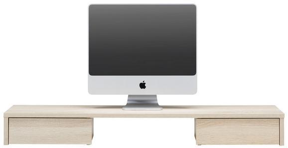 Schreibtischaufsatz Eichefarben - Eichefarben, MODERN, Holzwerkstoff (120/14/31cm) - Mömax modern living