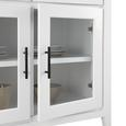 Kommode Liana - Weiß/Grau, MODERN, Glas/Holz (80/80/40cm) - Mömax modern living