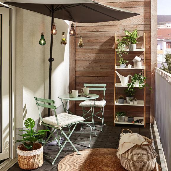 Set Za Balkon Nice - zelena, kovina - Mömax modern living