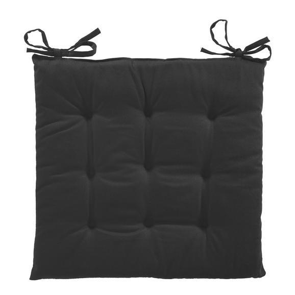 Pernă Şezut Lola - Negru, Material textil (40/40/2cm) - Based