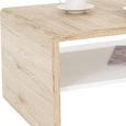 Măsuţă Cana Luna - alb/culoare lemn stejar, Modern, compozit lemnos (100/40/59cm)