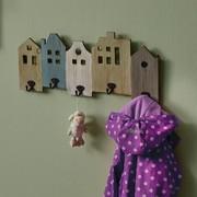 Wandgarderobe Celi - Multicolor, MODERN, Holz/Metall (54,5/23,5/6cm) - Modern Living