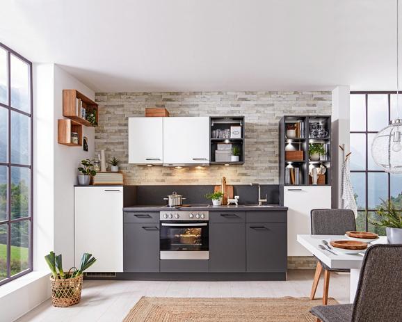 Küchenblock Küchenblock Win 320 cm - Anthrazit/Weiß (320cm) - EXPRESS