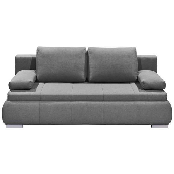 Sofa mit Schlaffunktion in Hellgrau 'Norman LUX.3DL' - Silberfarben/Hellgrau, KONVENTIONELL, Holzwerkstoff/Kunststoff (208/95/105cm) - Livetastic