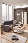 Sedežna Garnitura Lorenzo L - siva/črna, Moderno, umetna masa/tekstil (245/87/136cm) - Modern Living