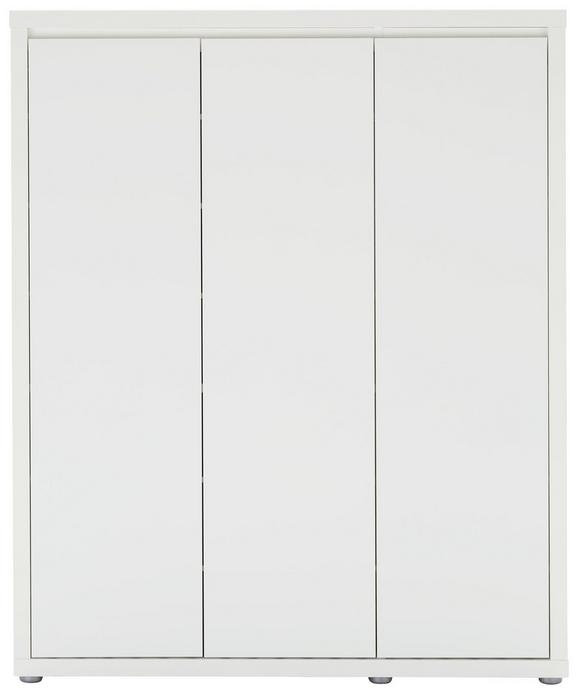 Schuhschrank Weiß Hochglanz - Weiß, MODERN, Holzwerkstoff (101,7/120/34cm) - MÖMAX modern living