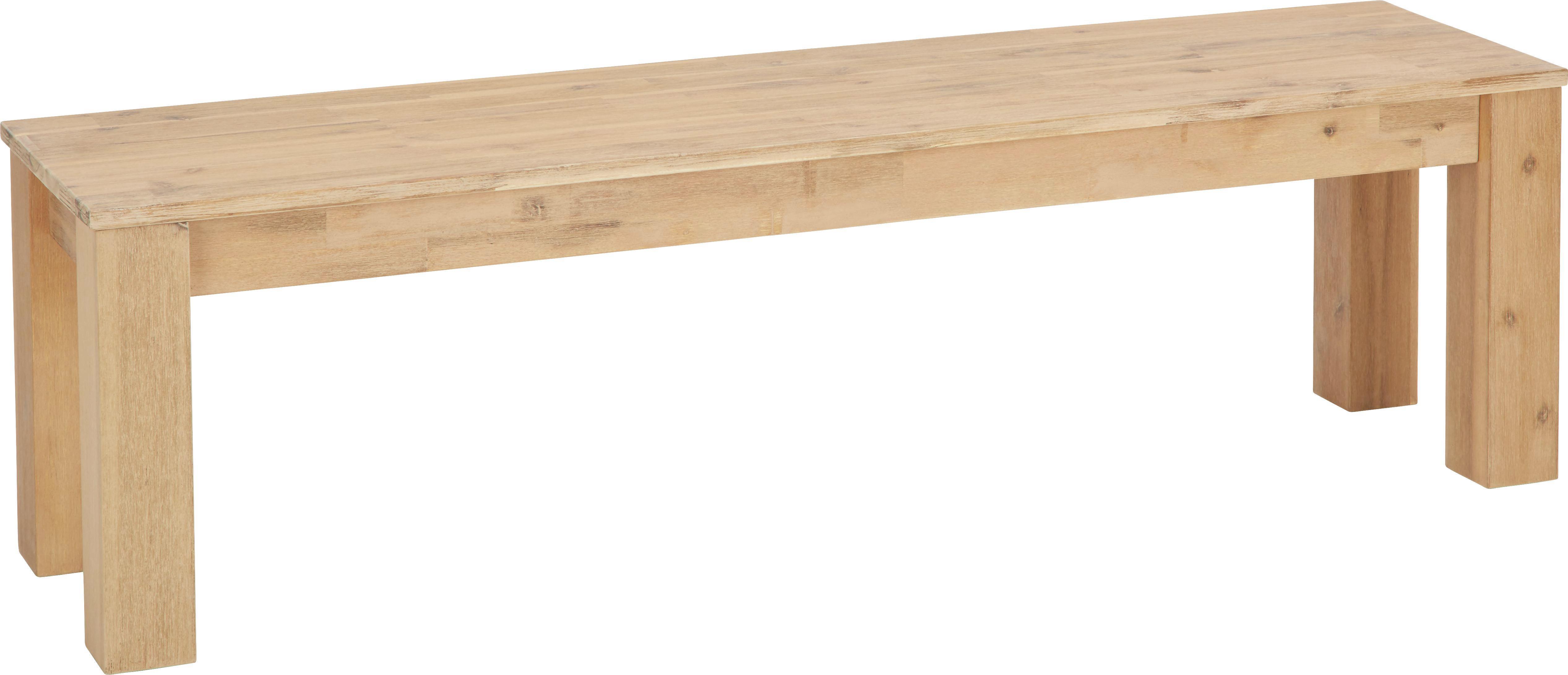 Sitzbank in Akazie aus Echtholz - Akaziefarben, KONVENTIONELL, Holz (160/45/40cm) - ZANDIARA