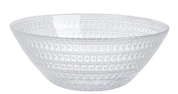 Skleda Carolin - prozorna, Romantika, steklo (16/6cm) - Zandiara