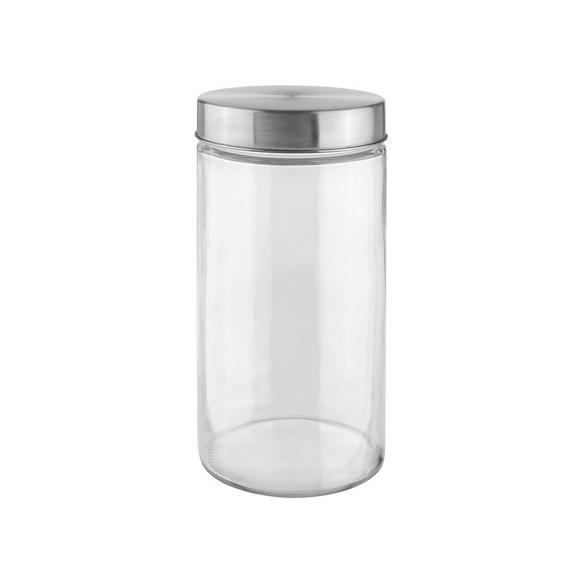 Vorratsdose Magnus Glas - Klar/Edelstahlfarben, MODERN, Glas/Metall (11/22cm) - Mömax modern living