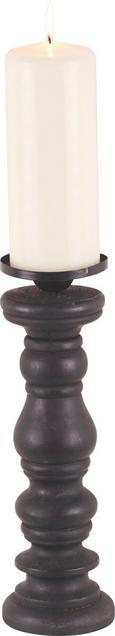 Kerzenhalter Sue H ca. 41 cm - Schwarz, ROMANTIK / LANDHAUS, Holz/Metall (12,5/41cm) - Premium Living