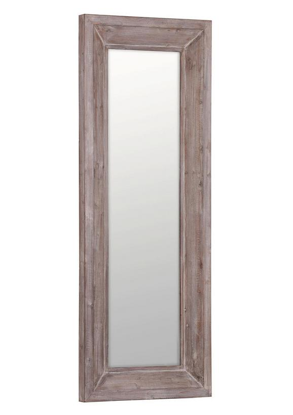 Stensko Ogledalo Reflection - rjava, Moderno, steklo/les (70/180/7cm)