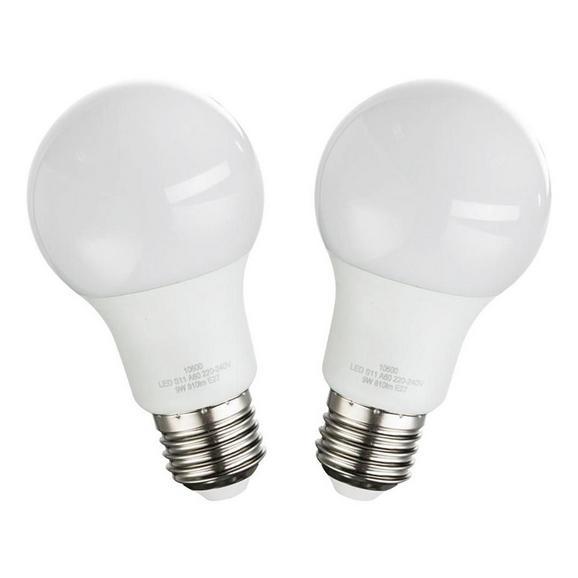 LED-Leuchtmittel 10600-2, max. 9 Watt - Opal, Kunststoff/Metall (6/11cm)