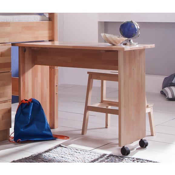 Jugendschreibtisch Kim - Naturfarben, Design, Holz/Kunststoff (94/70/50cm)