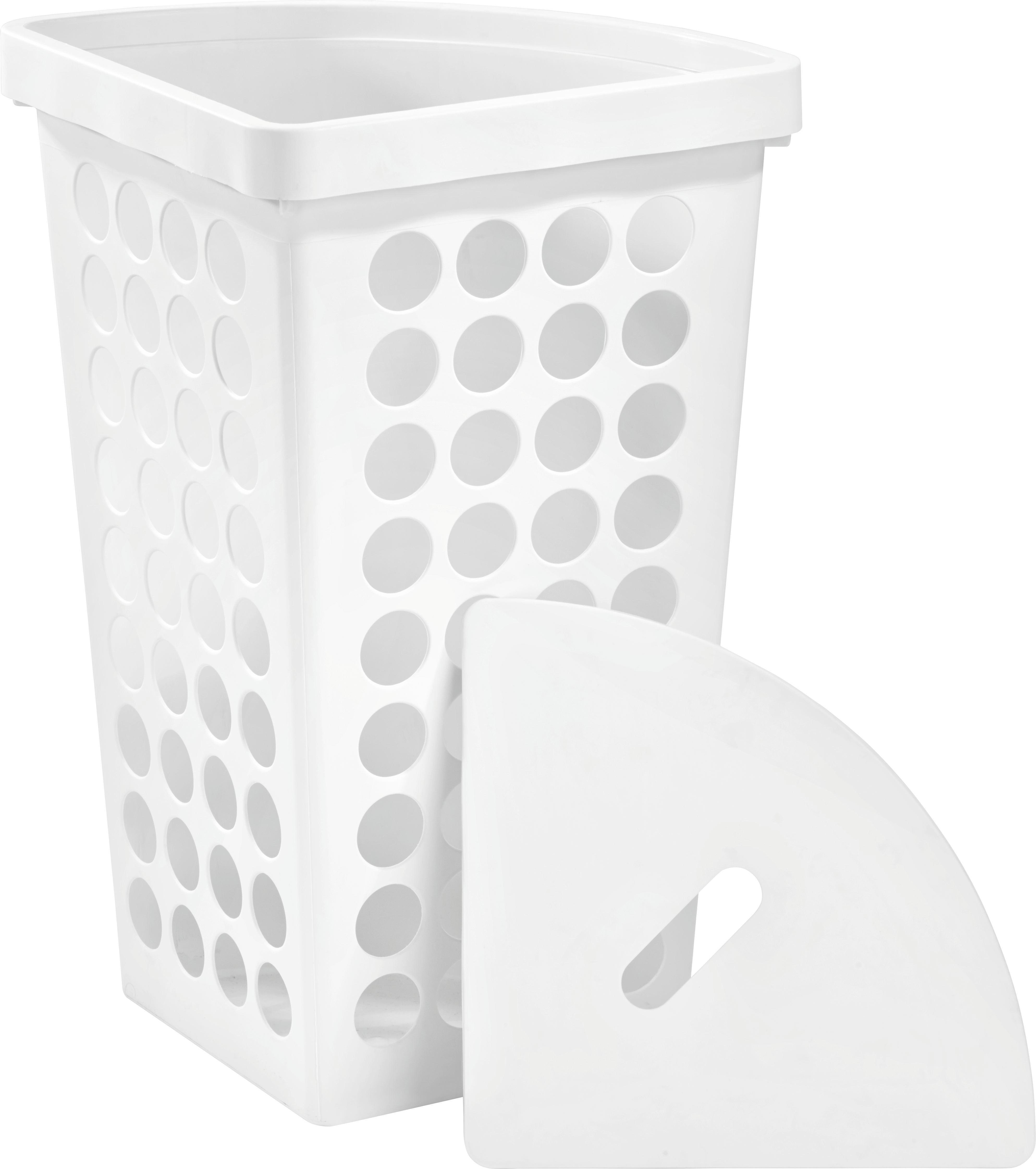 Wäschekorb Nadine - Weiß, MODERN, Kunststoff (45l) - MÖMAX modern living