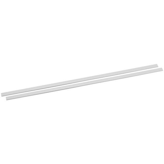 Beschwerungsprofil Style Weiß - Weiß, Metall (60cm) - Premium Living