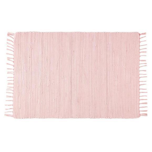 Fleckerlteppich Julia Rosa, ca. 60x90cm - Rosa, ROMANTIK / LANDHAUS, Textil (70/130cm) - Mömax modern living
